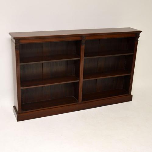 Antique Victorian Mahogany Open Bookcase (1 of 9)