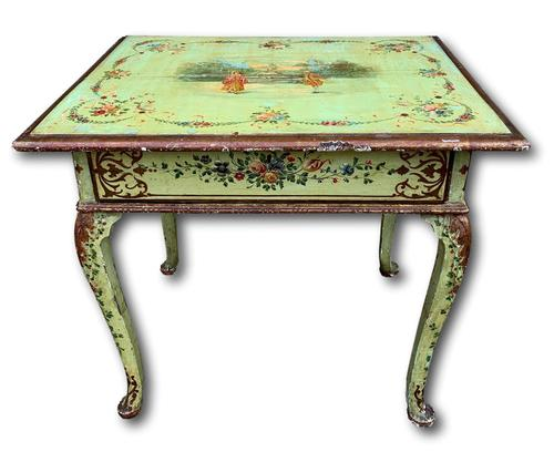 19th Century Painted Occasional Table with Single Drawer (1 of 7)