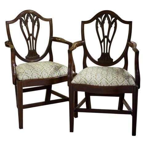 Pair of Georgian Carver Dining Chairs (1 of 7)
