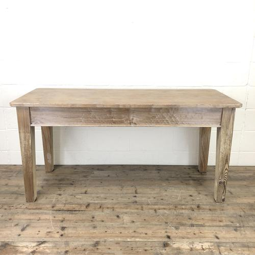 Antique Pitch Pine Table with Drawers (1 of 10)