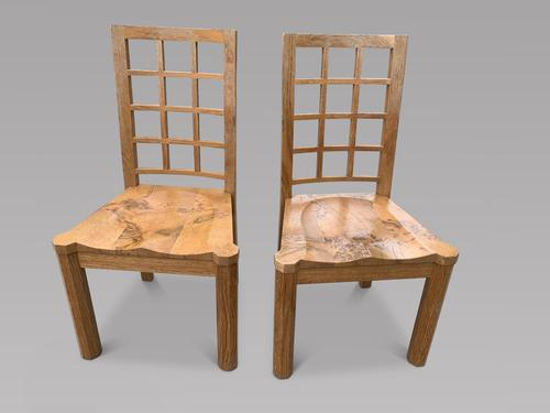 Pair of English Tiger & Burr Oak Chairs by Linford (1 of 4)