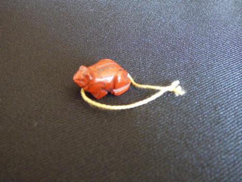 Ojime Bead in shape of Frog (1 of 7)