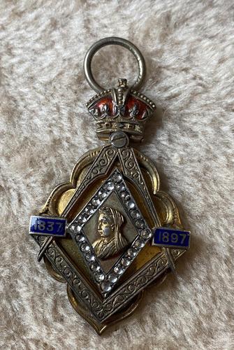 Silver Gilt Victoria 1897 Jubilee Masonic Commemorative (1 of 5)