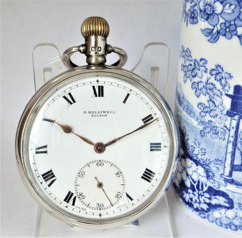 1920s silver Cyma pocket watch (1 of 5)
