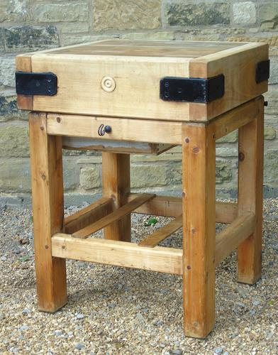 Vintage Butcher's Block on Stand (1 of 7)