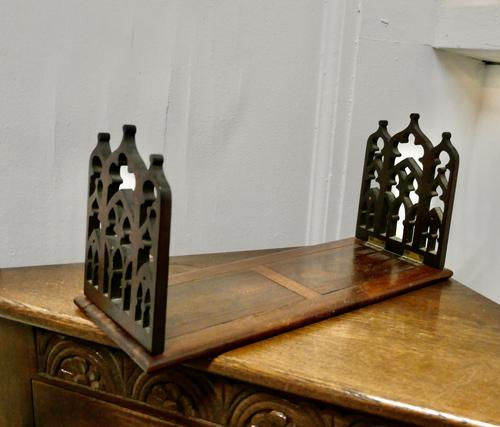 Victorian Gothic Folding Extending Bookend Slide (1 of 6)