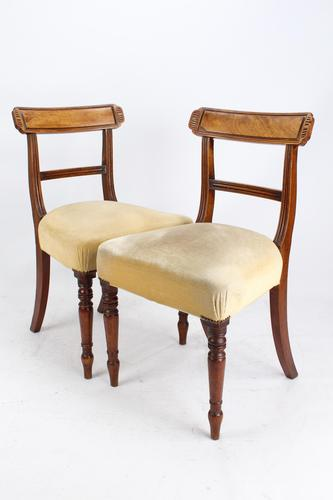 Pair of Antique Regency Mahogany Chairs (1 of 13)