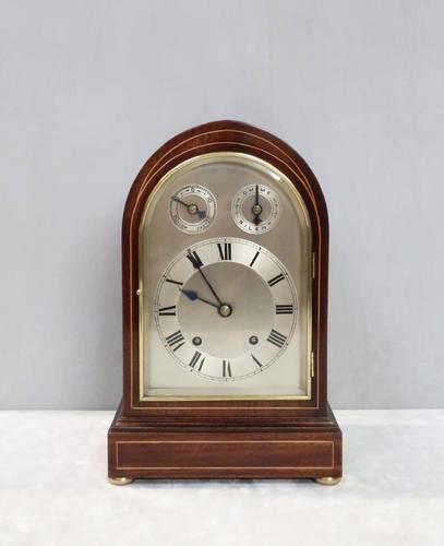 German Mahogany Bracket Clock by Winterhalder & Hofmeier (1 of 7)