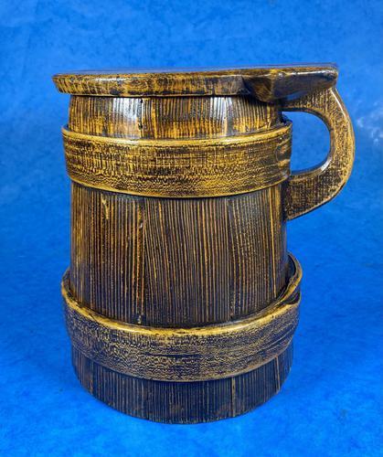 19th Century Beech & Pine Treen Tankard (1 of 11)