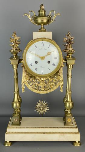 Louis Boname French 8 Day Mantle Clock (1 of 9)