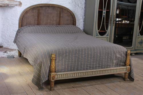 Lovely Carved Gilded Frame French King Size Bed (1 of 7)
