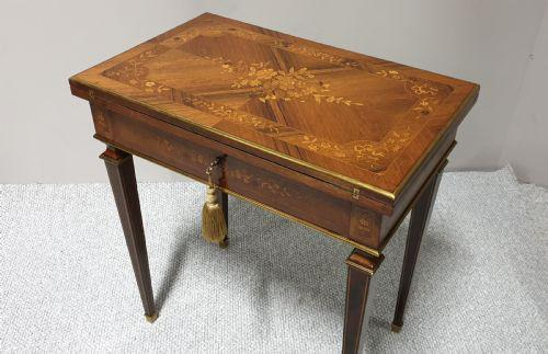 French Marquetry Games Writing Table (1 of 22)