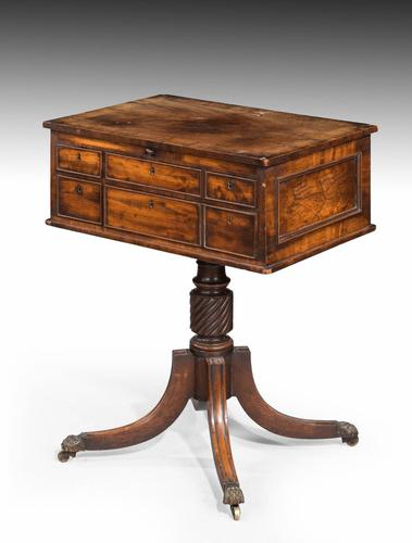 Complex George III Mahogany Centre Standing Writing Table (1 of 6)