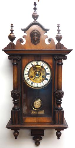 Fantastic Rare Victorian 8-day Wall Clock – Small Antique Striking Vienna Wall Clock (1 of 17)