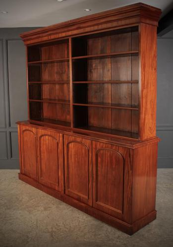 Large Mahogany Open Library Bookcase (1 of 11)