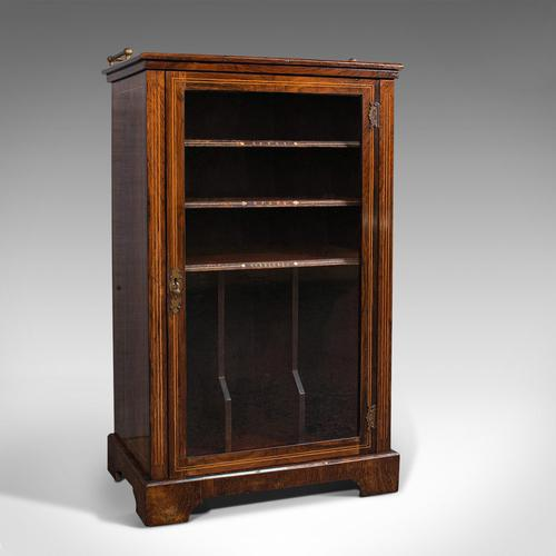 Antique Music Cabinet, English, Rosewood, Display Case, Victorian c.1900 (1 of 12)