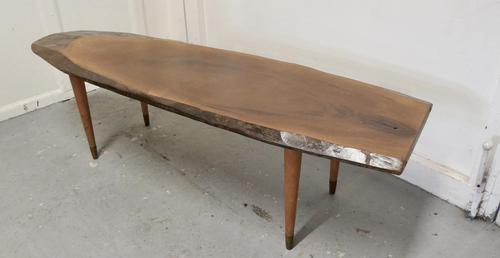 Mid Century Slice of Fruitwood Coffee Table (1 of 10)