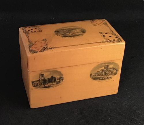 Victorian Mauchline Playing Card Box. (1 of 4)
