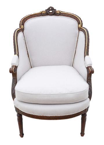 Gilt 19th Century Chair Armchair (1 of 11)
