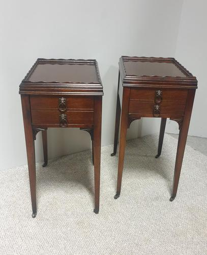 Super Pair of Mahogany Bedside Lamp Tables (1 of 11)