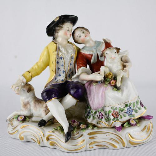 Naples Porcelain Romantic Couple Figurine (1 of 4)