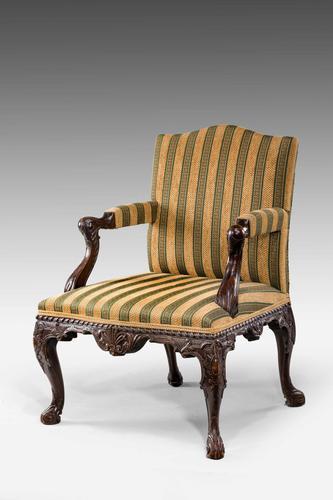 19th Century Mahogany Gainsborough  Armchair (1 of 6)