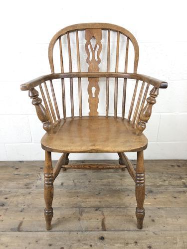 Antique Beech & Elm Windsor Armchair (1 of 7)