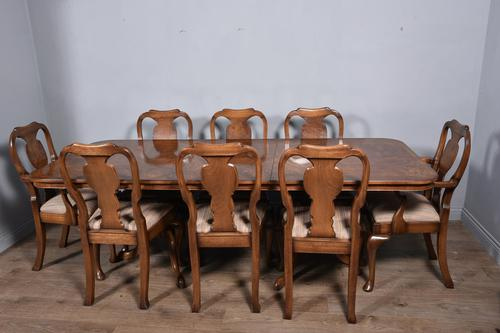 Walnut Dining Table & Eight Chairs (1 of 6)