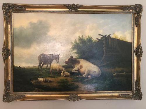 Edwin J Lambert Oil on Canvas (1 of 5)