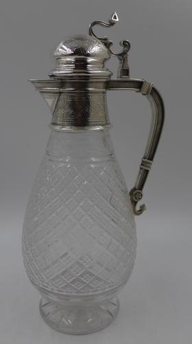 Good Victorian Silver Claret Jug. London 1866 by Edward & John Barnard (1 of 10)