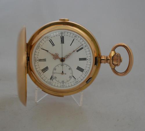 18k Quarter Repeat Chronograph Gents Pocket Watch (1 of 6)