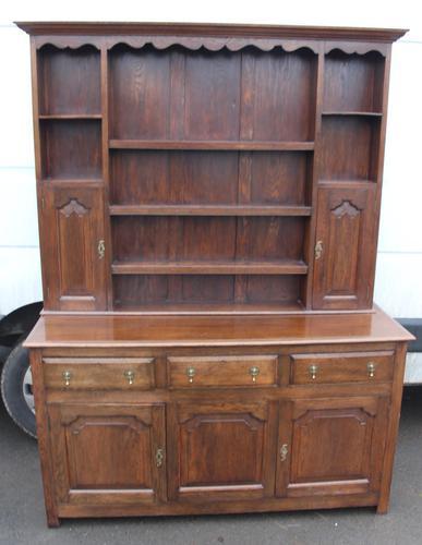 1920's Large Oak Dresser with display rack (1 of 5)