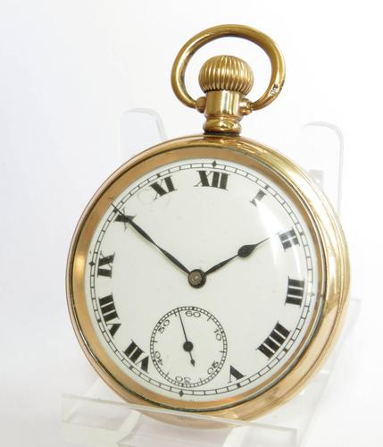 Antique 1920s Record Stem Winding Pocket Watch (1 of 6)