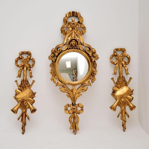 Antique Italian Giltwood Mirror Set (1 of 12)