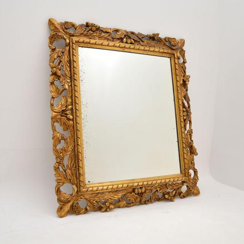 Antique French Carved Giltwood Mirror (1 of 10)