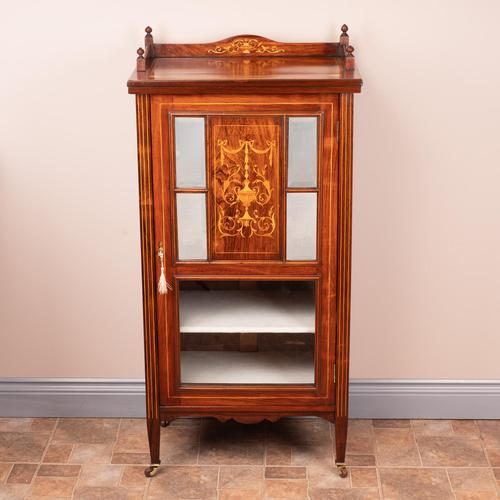 Inlaid Rosewood Music Display Cabinet (1 of 15)