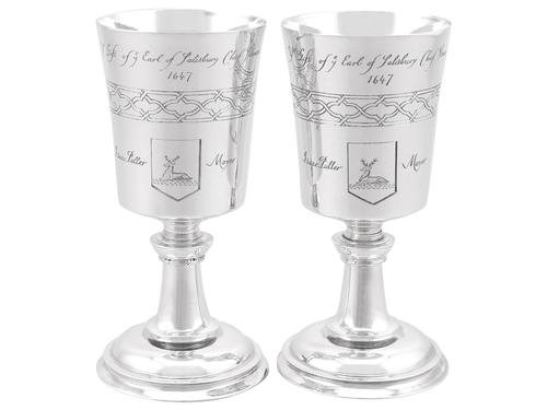 Sterling Silver Chalices - Vintage 1972 (1 of 15)
