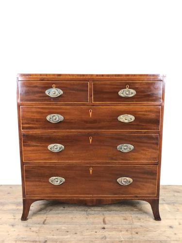 Antique 19th Century Mahogany Chest of Drawers (1 of 14)
