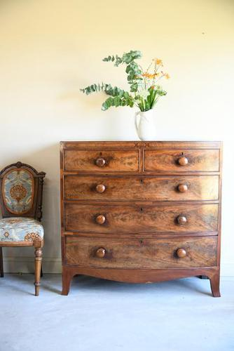 Antique George IV Mahogany Chest of Drawers (1 of 12)