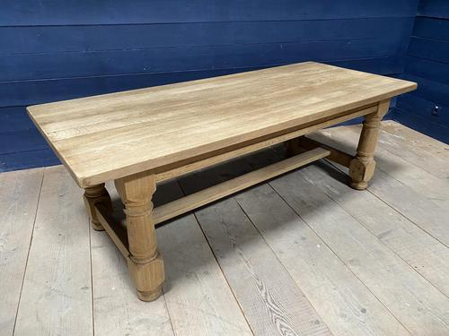 Good Looking Bleached Oak Farmhouse Dining Table (1 of 17)