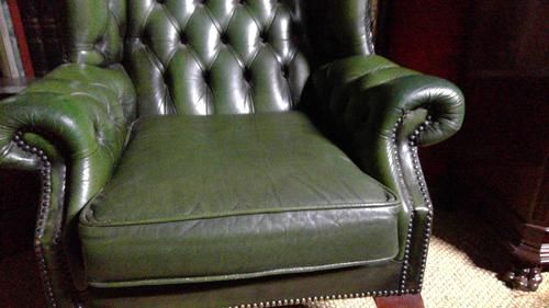 Leather Libary Chair (1 of 5)