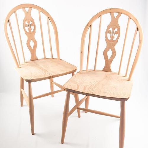 Pair of Ercol Fleur-de-lis Windsor Chairs (1 of 5)