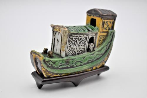 Chinese Kangxi Period Sancai Model Boat (1 of 5)