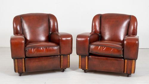 Good Pair of Art Deco Club Chairs (1 of 7)