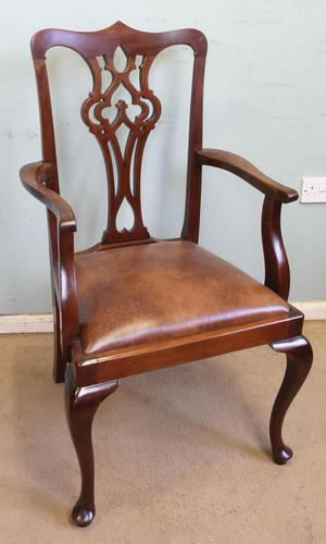 Antique Mahogany Georgian Style Desk Chair (1 of 7)