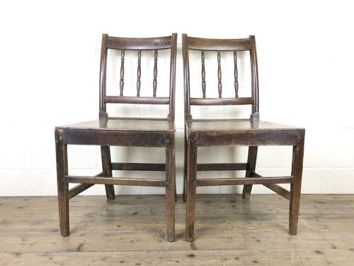 Pair of 19th Century Oak Farmhouse Chairs (1 of 12)