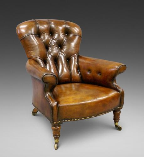 19th Century Leather Upholstered Armchair (1 of 6)