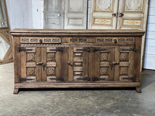Rustic Oak Spanish Sideboard (1 of 13)