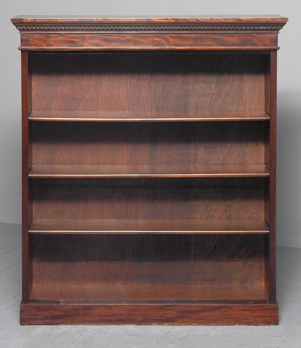 Late Edwardian Mahogany Open Bookcase (1 of 9)