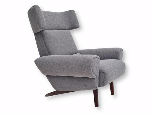 1970s Danish Design, Completely Restored Armchair, Furniture Wool, Teak Wood (1 of 12)